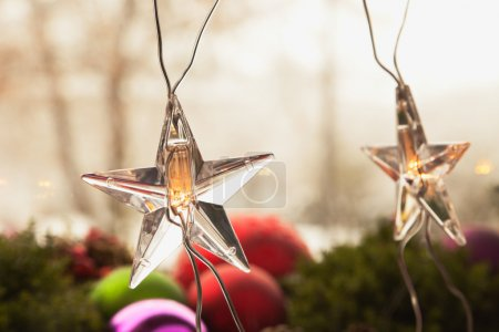 Photo for Fairy lights, stars, christmas time - Royalty Free Image
