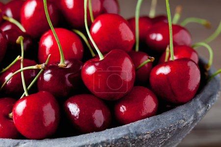 Sweet cherries in bowl
