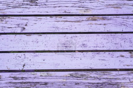 Photo for Old wooden table, purple, varnished, full frame - Royalty Free Image