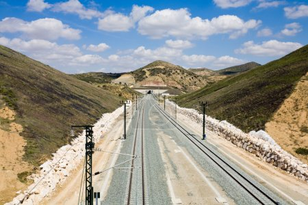 Spain,Andalusia,Railway track