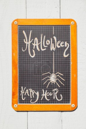 Chalkboard, Halloween, Happy hour