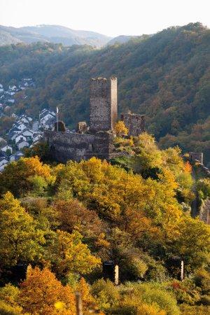 Allemagne, Rhénanie-Palatinat, vue du château de niederburg