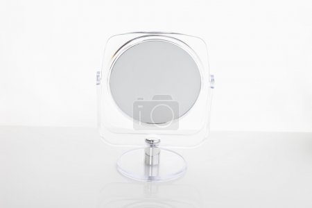 Mirror on white background,close up