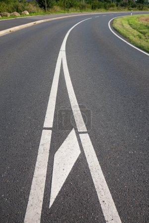 Photo for Germany, North Rhine-Westphalia, road, asphalt, curve - Royalty Free Image