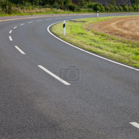 Germany, North Rhine-Westphalia, road, asphalt, curve