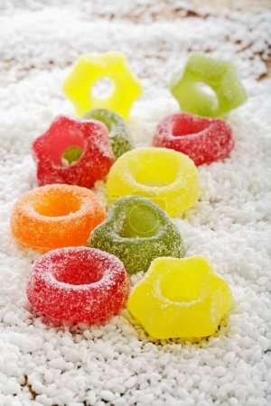 Colorful jelly rings