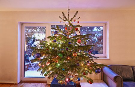 Decorated chrismas tree