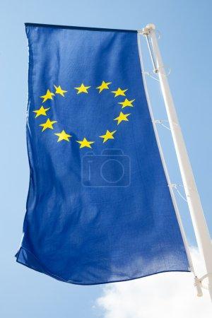 Photo pour Drapeau européen - image libre de droit