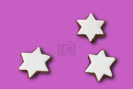 Star shaped christmas pastries