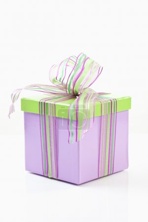 Present box on white background