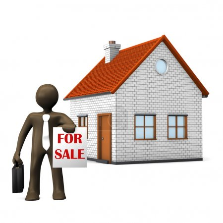 cartoon character, estate agent