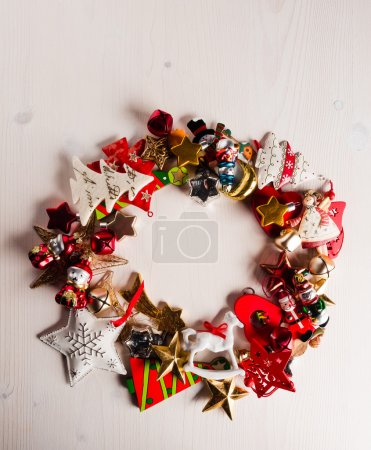 Wreath of christmas decoration