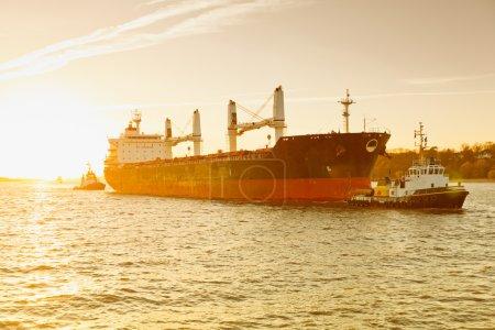 shipyard with cruise ship