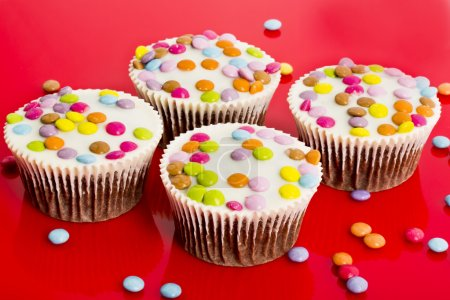 Chocolate cupcakes with chocolate drops
