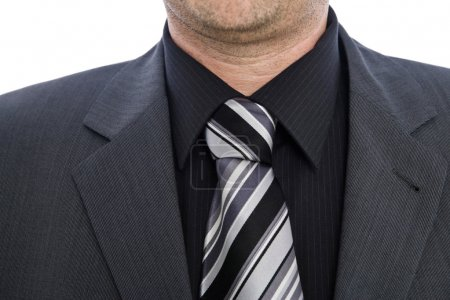 Collar of a businessman with shirt and necktie