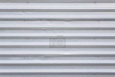 Photo for Metal garage door, corrugated gray background - Royalty Free Image