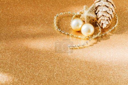Christmas decoration, golden