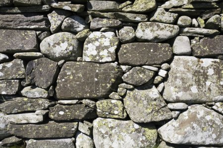 Photo for Norway,  weathered natural stone wall - Royalty Free Image