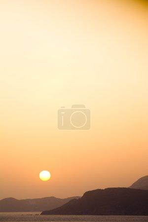 Photo pour Coucher de soleil Grèce coucher de soleil, Crète, lever du soleil - image libre de droit