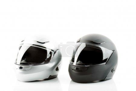 Foto de Cascos de moto para la seguridad vial - Imagen libre de derechos