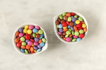 Bowls with smarties color