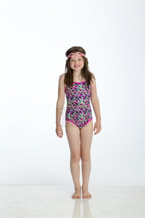 Little girl ready to go swimming