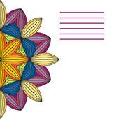 Vektorové mandaly. Abstraktní vektorová květinové Ozdobné ohraničení. Krajka p