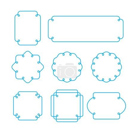 Set of outline frames, emblems and badges.