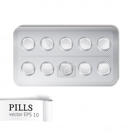 Set of the pills in package