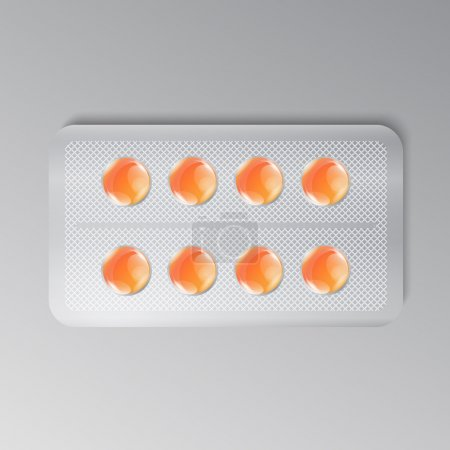 Orange pills package