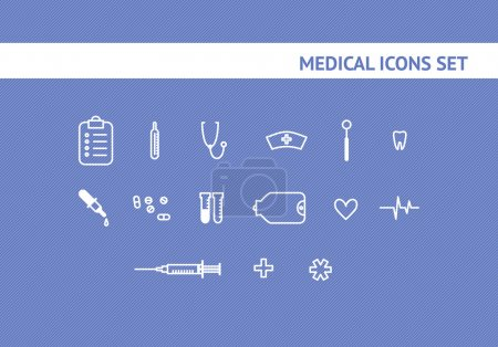 set of the medical icons