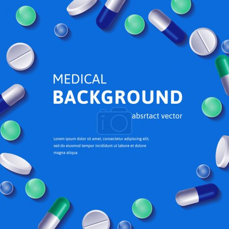 Medical backgroun with pills
