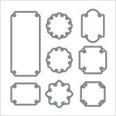 Set of 8 Isolated Graceful Frames