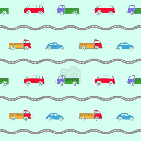 Seamless background with cars