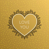Vector Heart Monogram Decorative Frame Vintage Linear Flourishes Elegant Ornaments