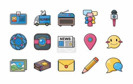 social media icons set eps10