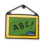 Blackboard color doodle...