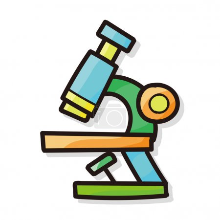 Illustration for Microscope color doodle - Royalty Free Image