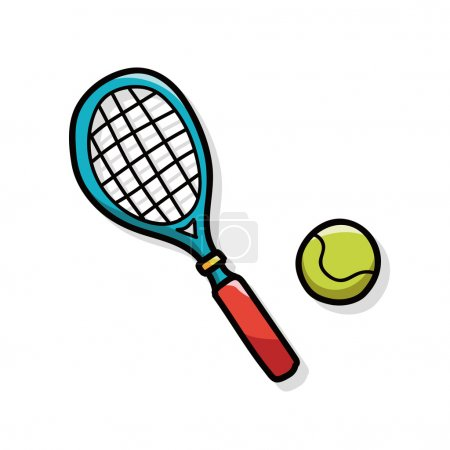 tennis doodle