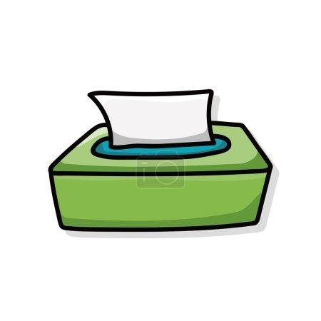 tissue paper doodle