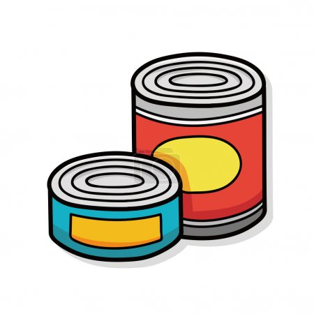 Illustration for Canned food doodle - Royalty Free Image