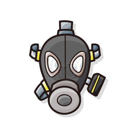 Illustration for Gas masks doodle - Royalty Free Image