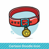 Pet collar doodle vector illustration