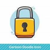 Zámek doodle vektorové ilustrace