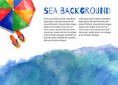 Watercolor vector nautical background