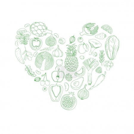 Heart from healthy food