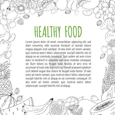 Food hand drawn elements.