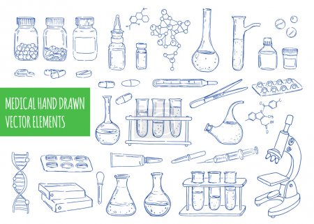 Medical hand drawn elements