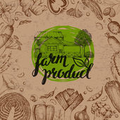 Farmers food design template