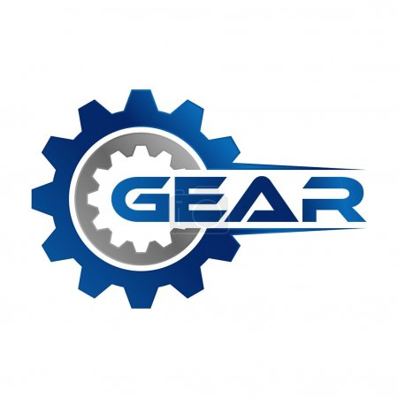 Illustration for Gear Logo Template - Royalty Free Image